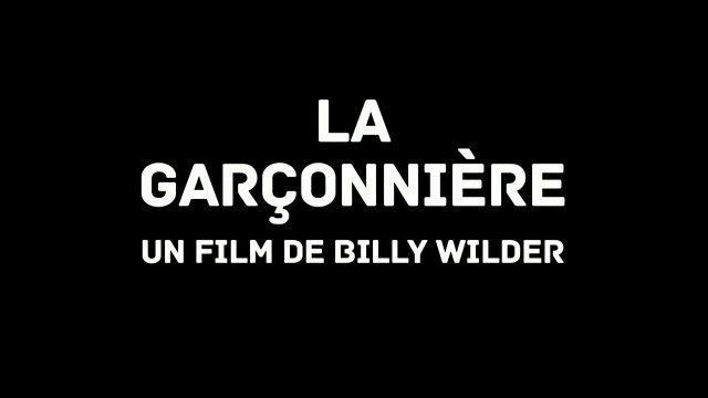 GARCONNIERE de Billy Wilder - VOST - HD