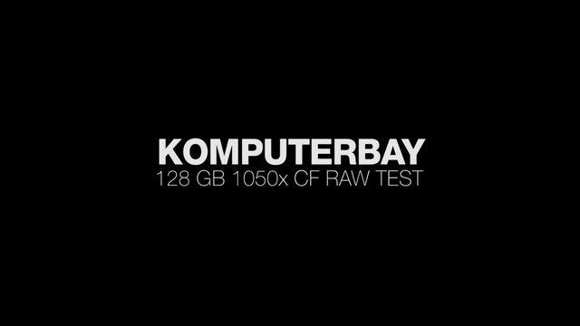 KomputerBay 128GB 1050X Raw Video Test