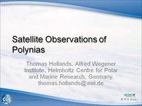 Frostbyte T Hollands: Satellite Observations of Polynias