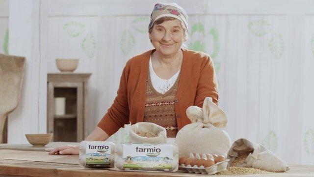 """Jaja """"Farmio wolne od GMO"""" - reklama"""