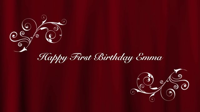 Happy First Birthday Emma! on Vimeo: vimeo.com/71483533
