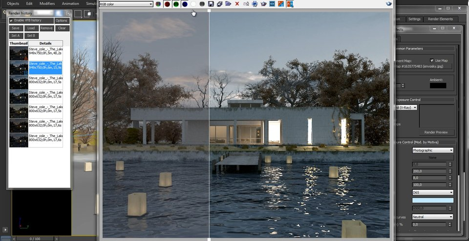 Motiva exposure control for V-Ray