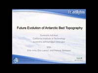 Frostbyte S Adhikari: Future Evolution of Antarctic Bed Topography
