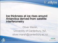 Frostbyte O Marsh: Ice Thickness at ice rises around Antarctica derived from satellite interferometry