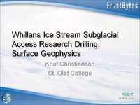Frostbyte K Christianson: Whillans Ice Stream Subglacial Access Research Drilling: Surface Geophysics