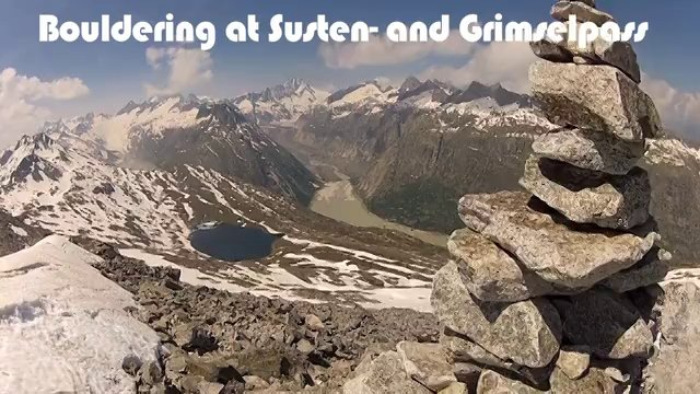 Bouldering at Susten- and Grimselpass