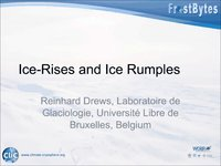 R Drews: Ice-Rises and Ice Rumples