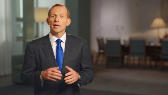 Opposition Leader Tony Abbott's 3 minute video address to Christians