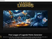 (New version) League Of Legends Riot Points Generator (September 2013)