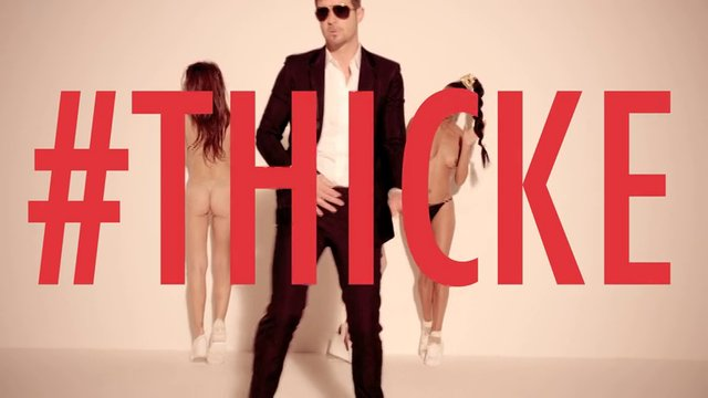 Robin Thicke Blurred Lines Unrated