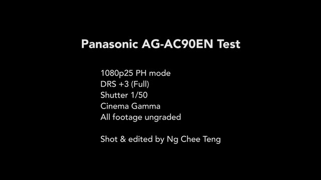 Panasonic AG-AC90 Camera Test