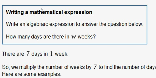 Writing a mathematical expression