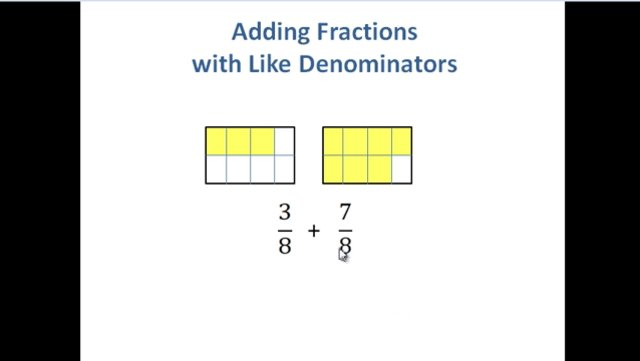 how to add and subtract fractions with like denominators