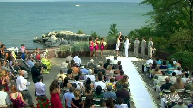 Wedding on the Lake Michigan