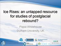 P Whitehouse - Ice Rises an untapped resource for studies of postglacial rebound