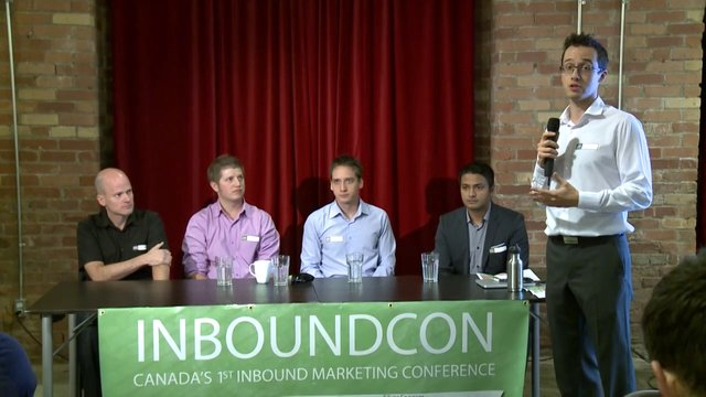 InboundCon 2013,  Enterprise SEO Panel Discussion, Canada's 1st Inbound Marketing Conference, September 14, 2013