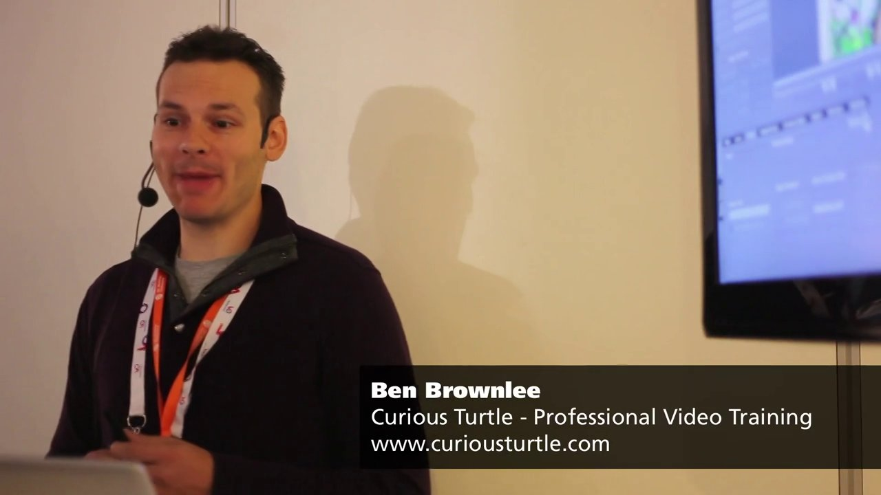 Ben Brownlee presents mocha Pro and Adobe After Effects at IBC 2013
