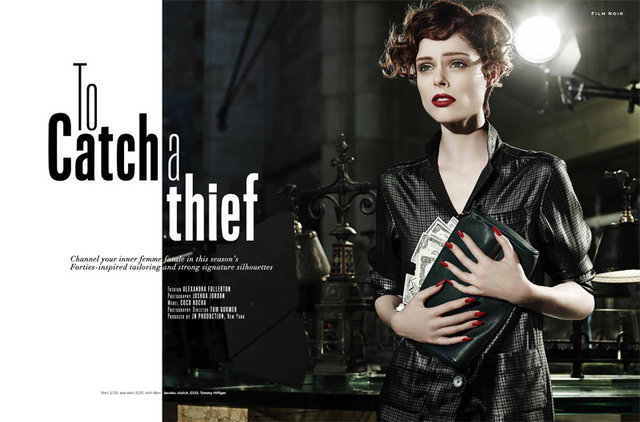'To Catch A Thief' - Coco Rocha for Stylist Magazine