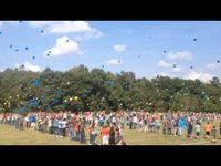 Hickory Tavern School centennial celebration balloon release