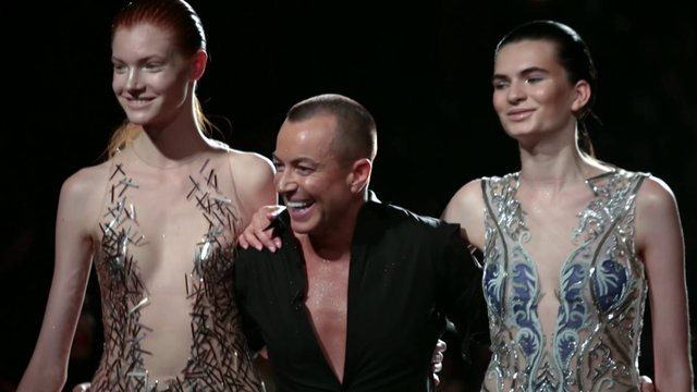 Noudar and Julien Macdonald - London Fashion Week SS14