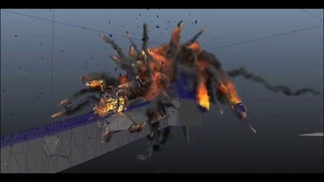 SIM VFX Destruction Simulations Reel