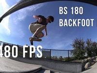 Slow Motion - BS 180 Late Backfoot Flip