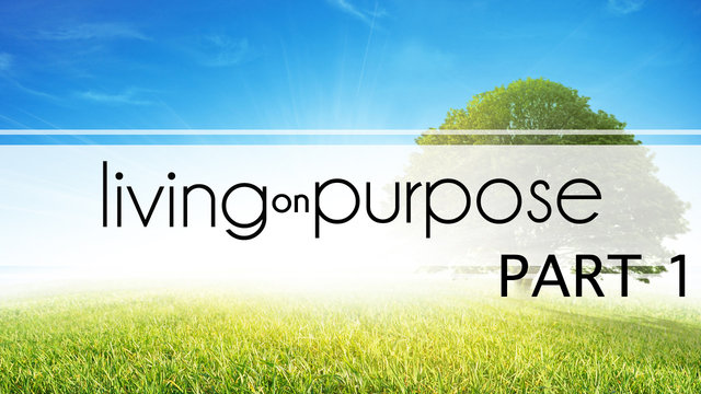 September 8th 2013 -Living on Purpose