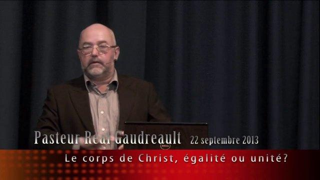 Le corps de Christ,égalité ou unité ?