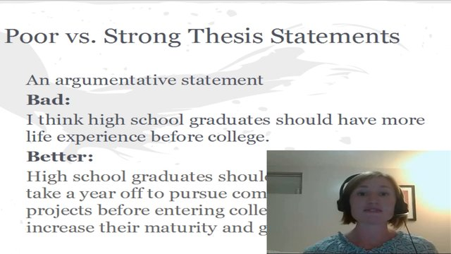 thesis statement for developmental psychology
