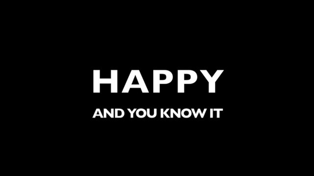 TRAILER - Happy and You Know It