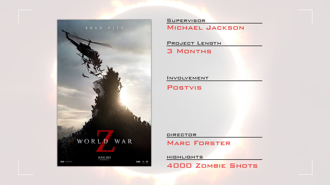 World War Z Postvis Reel