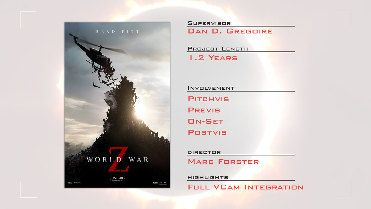 World War Z Previs Reel