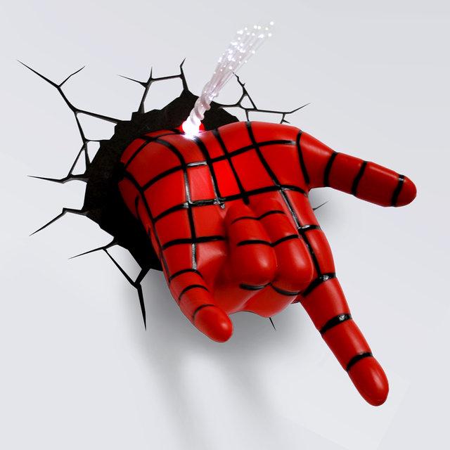 spiderman hand 3d deco night light on vimeo. Black Bedroom Furniture Sets. Home Design Ideas