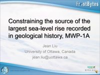 Frostbyte J Liu: Constraining the source of the largest sea-level rise recorded in geological history, MWP-1A