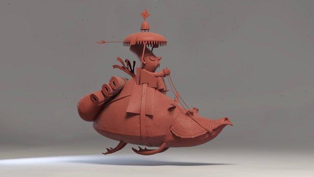 fly cabu 3D model