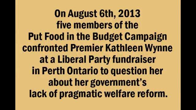 Melissa speaks to Kathleen Wynne in Perth