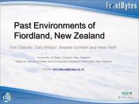 Frostbyte E Dlabola:  Past Enviroments of Fiordland, New Zealand