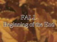 Fall Beginning of the End