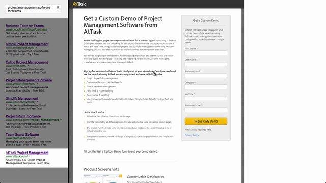 Message Match Project Management Software