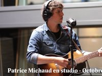 Patrice Michaud en studio - octobre 2013