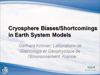WCRP 16/10-6 G. Krinner: Cryosphere Biases/Shortcomings in Earth System Models