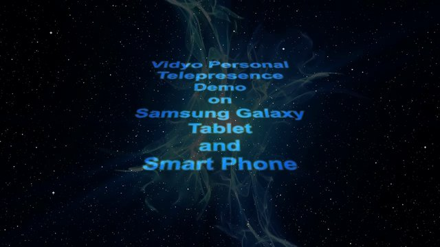 VidyoConferencing on a Samsung Galaxy