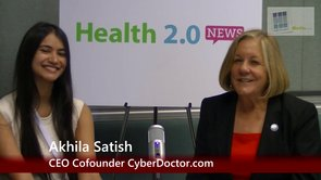 Health2con Silicon Valley: A Moment with @AkhilaSatish CEO MyCyberDoctor.com