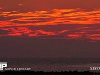 サンセット 微速度撮影 瀬戸内海の日没