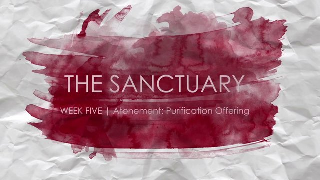 WEEK FIVE  |  Atonement: Purification Offering