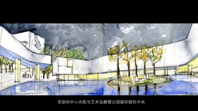 Culture and Art Center in Qingdao City, China