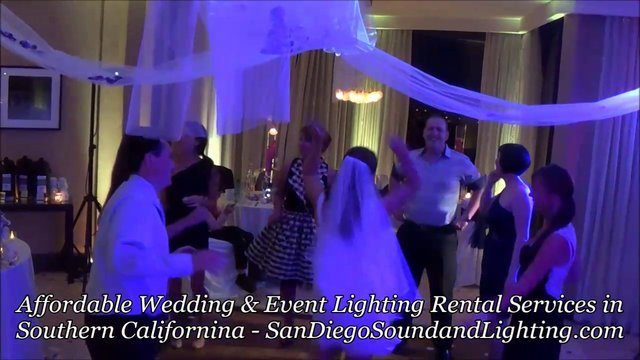 LED Uplighting Color Fade Effect Demo, San Diego Wedding Lighting
