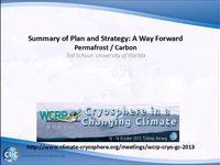 WCRP 18/10-3 Summary of Plan and Strategy: A Way Forward: Permafrost/Carbon