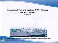 WCRP 18/10-2 Summary of Plan and Strategy: A Way Forward: Glaciers and Ice caps