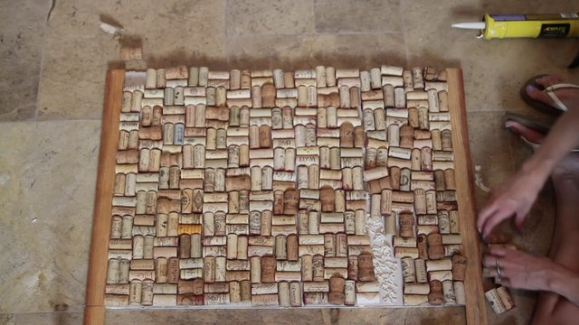 diy kitchen wine cork backsplash chalkboard on vimeo